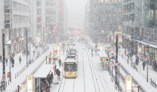 Berlin Friedrichstrasse Winter