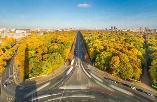 Berlin Tiergarten Skyline