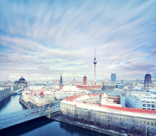 Berlin Winter Skyline