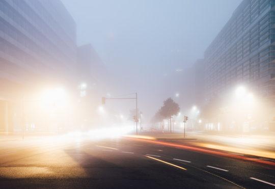 Berlin Potsdamer Platz Nebel